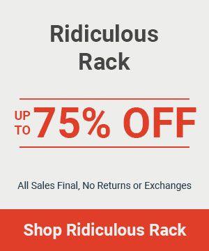 Ridiculous Rack for Women - Last Chance Apparel Deals