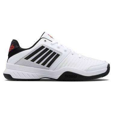 K Swiss Court Express Mens Tennis Shoe White/Black/Poppy Red 05443 103