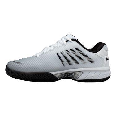 K Swiss Hypercourt Express 2 Wide 2E Mens Tennis Shoe White/Black/Highrise 06806 131