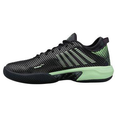 K Swiss Hypercourt Supreme Mens Tennis Shoe Blue Graphite/Soft Neon Green 06615 405