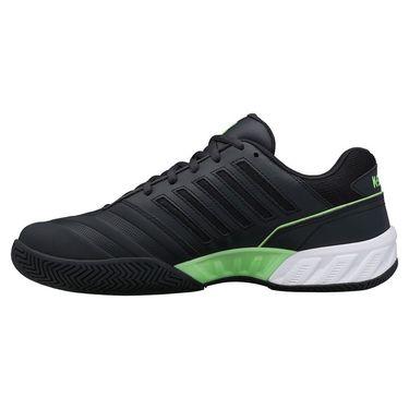 K Swiss Bigshot Light 4 Mens Tennis Shoe Blue Graphite/Soft Neon Green/White 06989 406
