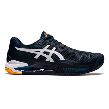 Asics Gel Resolution 8 Clay Mens Tennis Shoe - French Blue/White ...