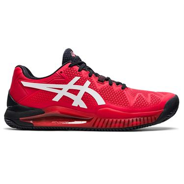 Asics Gel Resolution 8 Clay Mens Tennis Shoe Electric Red/White 1041A076 601