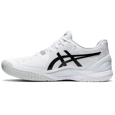 Asics Gel Resolution 8 Mens Tennis Shoe White/Black 1041A079 101