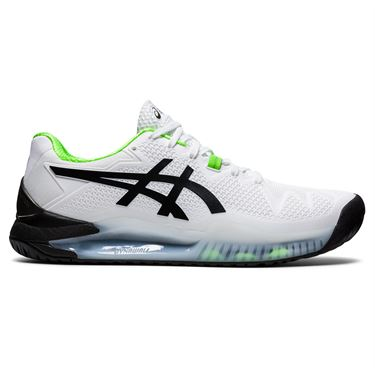 Asics Gel Resolution 8 Mens Tennis Shoe White/Green Gecko 1041A079 105