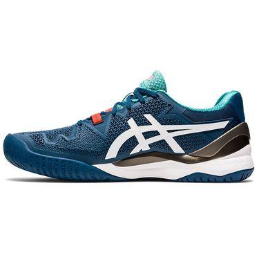 Asics Gel Resolution 8 Mens Tennis Shoe Mako Blue/White 1041A079 401