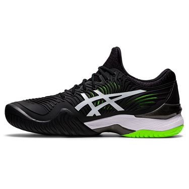 Asics Court FF 2 Mens Tennis Shoe Black/Green Gecko 1041A083 005