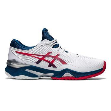 Asics Court FF 2 Mens Tennis Shoe - White/Mako Blue | Tennis-Point