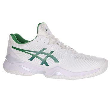 Asics Court FF 2 Novak Mens Tennis Shoe - White/Green