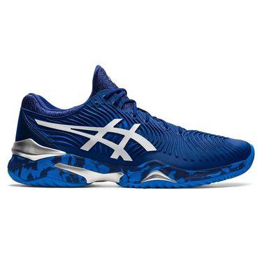 Asics Court FF Novak Mens Tennis Shoe Blue Print/White 1041A089 403