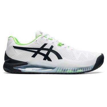 Asics Gel Resolution 8 Mens Tennis Shoe White/Green Gecko 1041A113 105