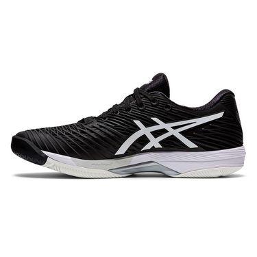 Asics Solution Speed FF 2 Mens Tennis Shoe Black/White 1041A182 001