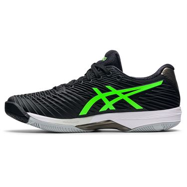 Asics Solution Speed FF 2 Mens Tennis Shoe Black/Green Gecko 1041A182 003