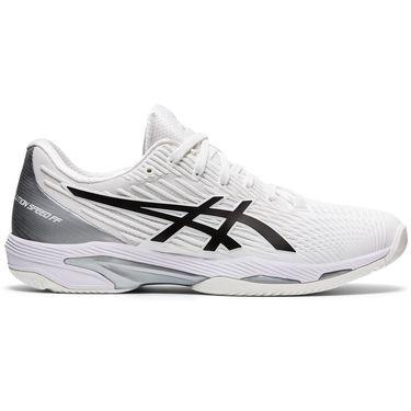 Asics Solution Speed FF 2 Mens Tennis Shoe White/Black 1041A182 100