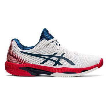 Asics Solution Speed FF 2 Mens Tennis Shoe White/Mako Blue 1041A182 101