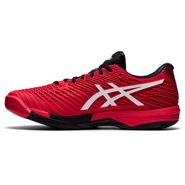 Asics Solution Speed FF 2 Mens Tennis Shoe Electric Red/White 1041A182 601