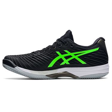Asics Solution Speed FF 2 Mens Tennis Shoe Black/Green Gecko 1041A187 003