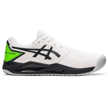 Asics Gel Challenger 13 Mens Tennis Shoe White/Green Gecko 1041A222 100