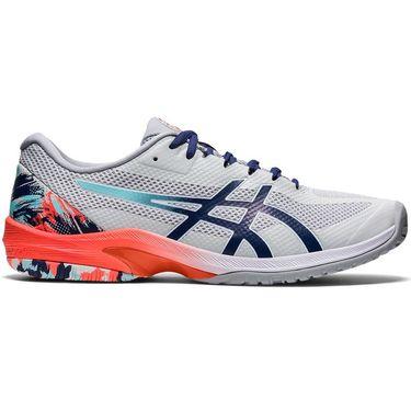 Asics Court Speed FF Mens Tennis Shoe Glacier Grey/Sunrise Red 1041A281 960