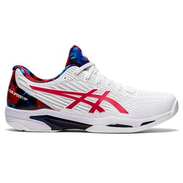Asics Solution Speed FF 2 LE Mens Tennis Shoe White/Classic Red 1041A286 110