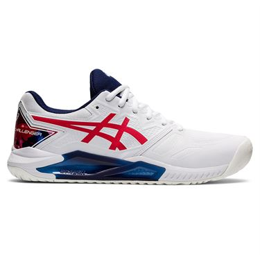Asics Gel Challenger 13 LE Mens Tennis Shoe White/Classic Red 1041A288 110