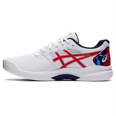 Asics Gel Game 8 LE Mens Tennis Shoe White/Classic Red 1041A290 110