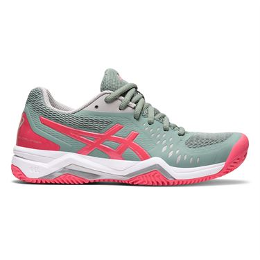 Asics Gel Challenger 12 Clay Womens Tennis Shoe Slate Grey/Pink Cameo 1042A039 021