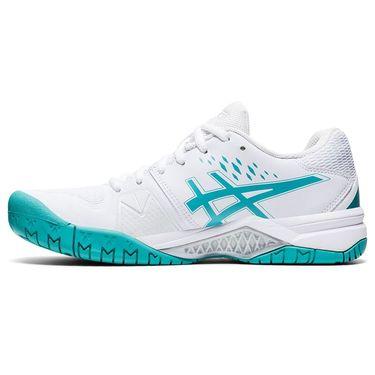 Asics Gel Challenger 12 Womens Tennis Shoe White/Techno Cyan 1042A041 107