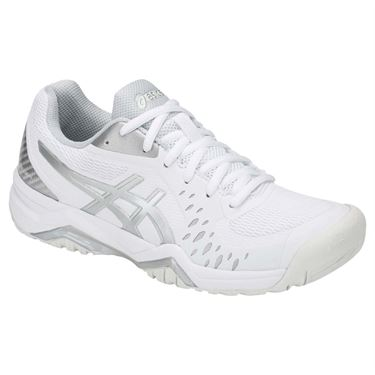 Asics Gel Challenger 12 Womens Tennis Shoe White/Silver 1042A041 113