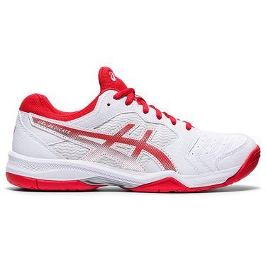 Asics Gel Dedicate 6 Womens Tennis Shoe White/Fiery Red 1042A067 107