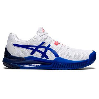 Asics Gel Resolution 8 Womens Tennis Shoe White/Lapis Lazuli Blue 1042A072 107