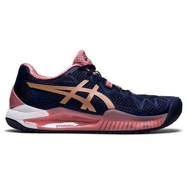Asics Gel Resolution 8 Womens Tennis Shoe Peacoat/Rose Gold 1042A072 404
