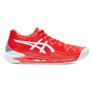 Asics Gel Resolution 8 Womens Tennis Shoe Fiery Red/White 1042A72 601