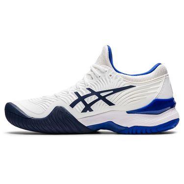 Asics Court FF 2 Womens Tennis Shoe White/Lapis Lazuli Blue 1042A076 103