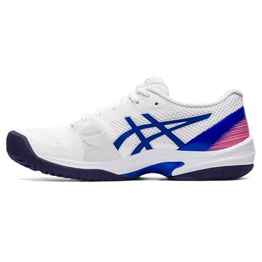 Asics Court Speed FF Womens Tennis Shoe White/Lapis Lazuli Blue 1042A080 106