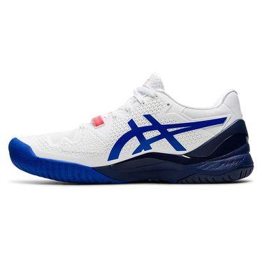 Asics Gel Resolution 8 Womens Tennis Shoe White/Lapis Lazuli Blue 1042A097 107