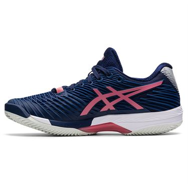 Asics Solution Speed FF 2 Clay Womens Tennis Shoe Peacoat/Smokey Rose 1042A134 402