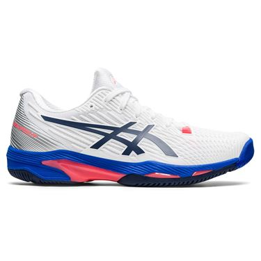 Asics Solution Speed FF 2 Womens Tennis Shoe White/Peacoat 1042A136 102