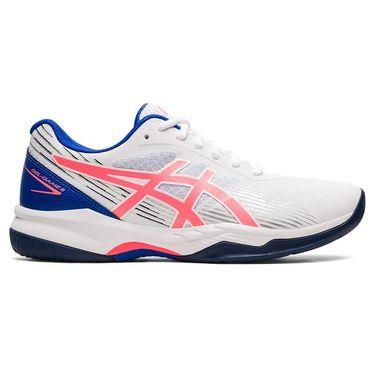 Asics Gel Game 8 Womens Tennis Shoe White/Blazing Coral 1042A152 102