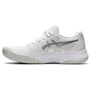 Asics Gel Challenger 13 Womens Tennis Shoe White/Pure Silver 1042A164 100