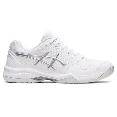 Asics Gel Dedicate 7 Womens Tennis Shoe White/Pure Silver 1042A167 100