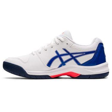 Asics Gel Dedicate 7 Womens Tennis Shoe White/Lapis Lazuli Blue 1042A167 101