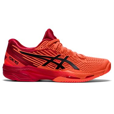 Asics Solution Speed FF 2 Womens Tennis Shoe Tokyo Sunrise Red/Eclipse Black 1042A181 701