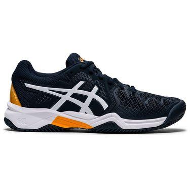 Asics Junior Gel Resolution 8 GS Tennis Shoe French Blue/White 1044A018 403