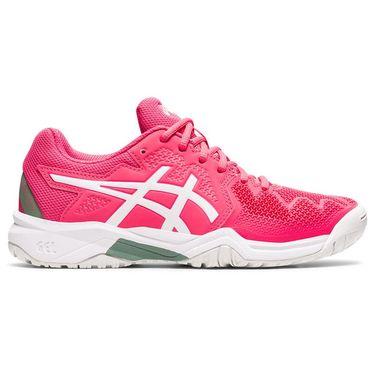 Asics Junior Gel Resolution 8 GS Tennis Shoe Pink Cameo/White 1044A018 702