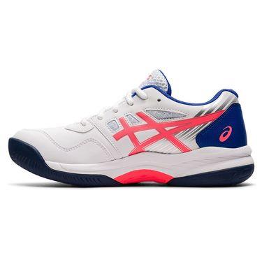Asics Junior Gel Game 8 GS Tennis Shoe White/Blazing Coral 1044A025 102