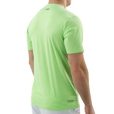 K Swiss Hypercourt Shield Crew Shirt Mens Soft Neon Green 104910 332