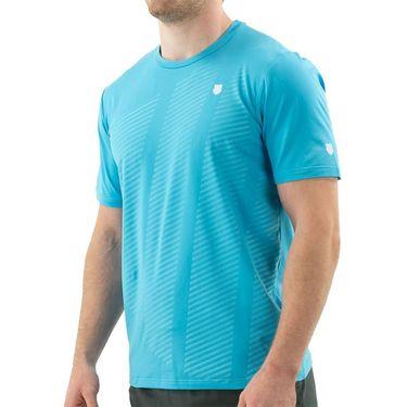 K Swiss Hypercourt Shield Crew Shirt Mens Scuba Blue 104910 438