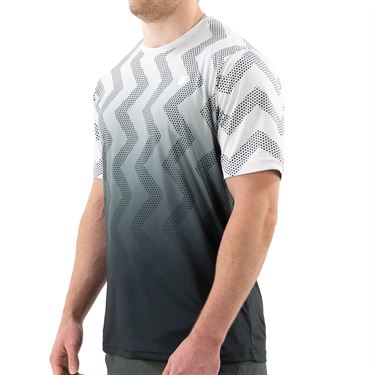 K Swiss Hypercourt Print Crew Shirt Mens Lunar Rock Dark/Dark Shadow 104911 060