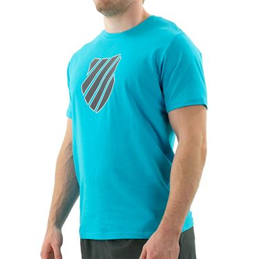 K Swiss Hypercourt Logo Tee Shirt Mens Scuba Blue 104912 438
